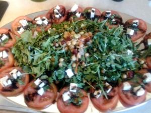 Tomato Mozarella & Arugula Salad with Balsamic Glaze