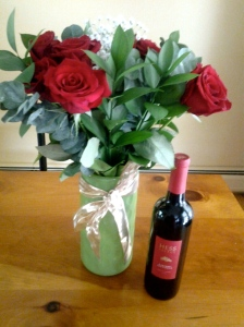 Beautiful Roses & Wine