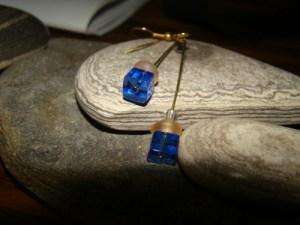 Blue & Pink Dangle Earrings LSJayHandmade 2014