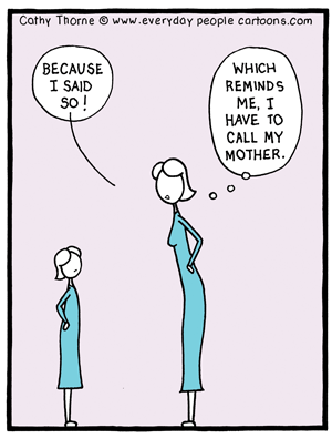 Does behaving like your mother make you your mother?